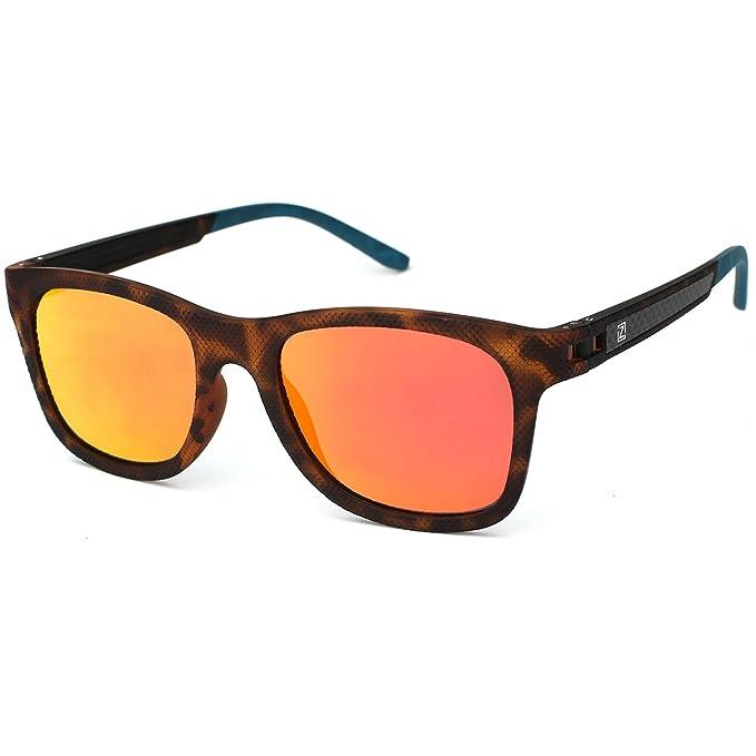 ZENOTTICModa Para Hombre Wayfarer Gafas De Sol Polarizadas Reflectantes Lentes de Espejo Mujer TR90 Monturas: Amazon.es: Ropa y accesorios