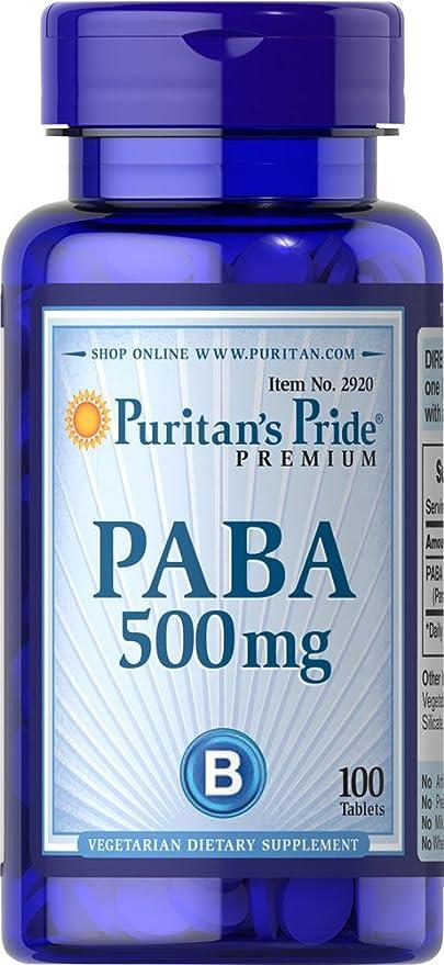 Paba - Acido paraaminobenzoico 500 mg 100 comprimidos. 1 und.