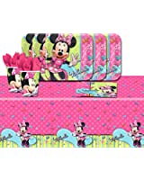 Disney Minnie Mouse Bowtique Children's Birthday Party Tableware Pack For 16