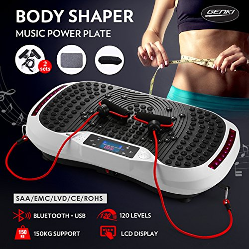 Genki Vibration Platform Plate Whole Body Massager Machine Slim Exercise Fitness