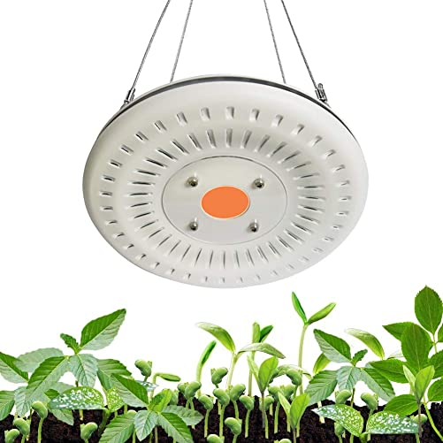 100W UFO LED Grow Light with Waterproof, COB LED Grow Lamp,Full Spectrum Growing Light Without Noise,Ultra Thin,with Heat Dissipation for Indoor Plants, Seedling, Veg and Flower Growth