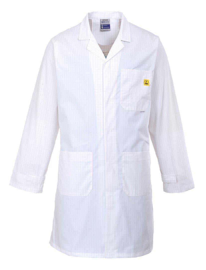 Portwest Workwear Mens Anti Static Coat White XL