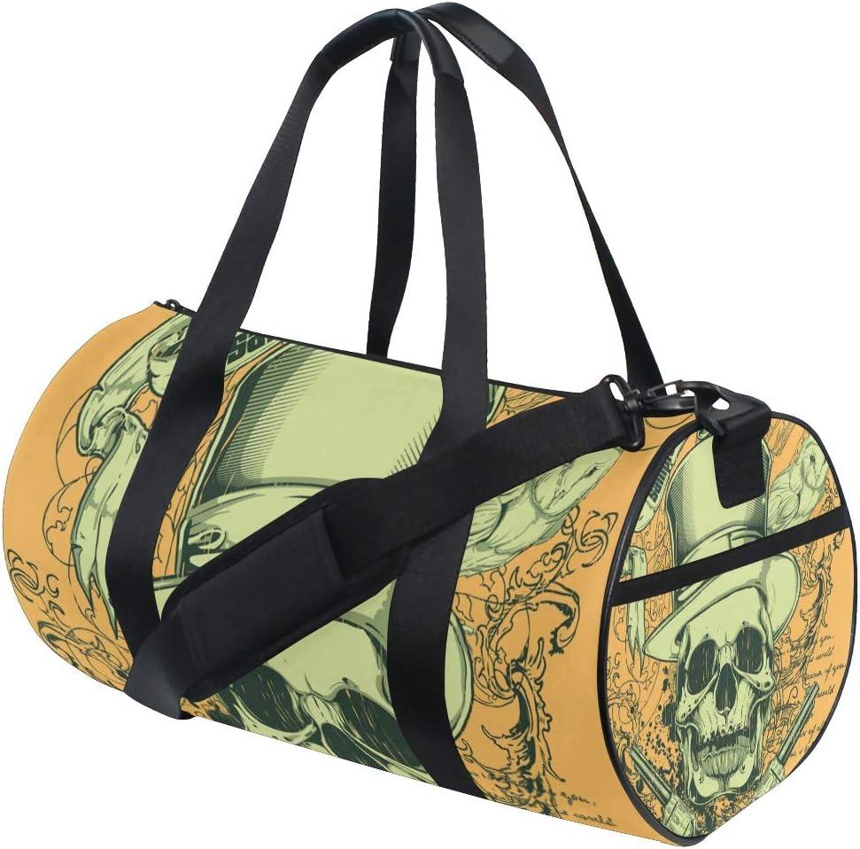 MALPLENA Army Green Drum Duffel Bag Gym bag Travel Bag