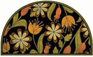 product image for Apache Mills Masterpiece Floral Round Door Mat, 18-Inch by 30-Inch