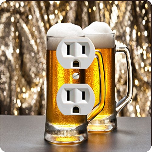 Rikki Knight 1965 Outlet Beer Mug with Glitter Background Design Outlet Plate by Rikki Knight