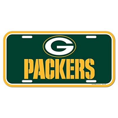 WinCraft NFL Green Bay Packers License Plate, Team Color, Plastic, 1 Size : Automotive License Plate Frames : Sports & Outdoors