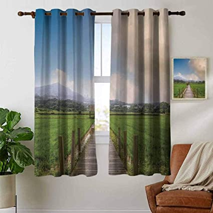 Amazon.com: Living Room Curtains Country,Farm Scenery with ...
