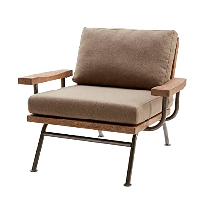 Miraculous Amazon Com Renu Accent Chair Tan Gunmetal See Below Home Gmtry Best Dining Table And Chair Ideas Images Gmtryco