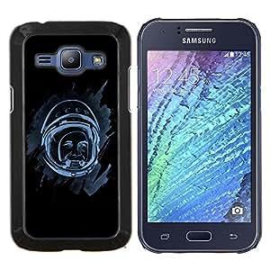 LECELL--Funda protectora / Cubierta / Piel For Samsung Galaxy J1 J100 -- Espacio Astronauta --