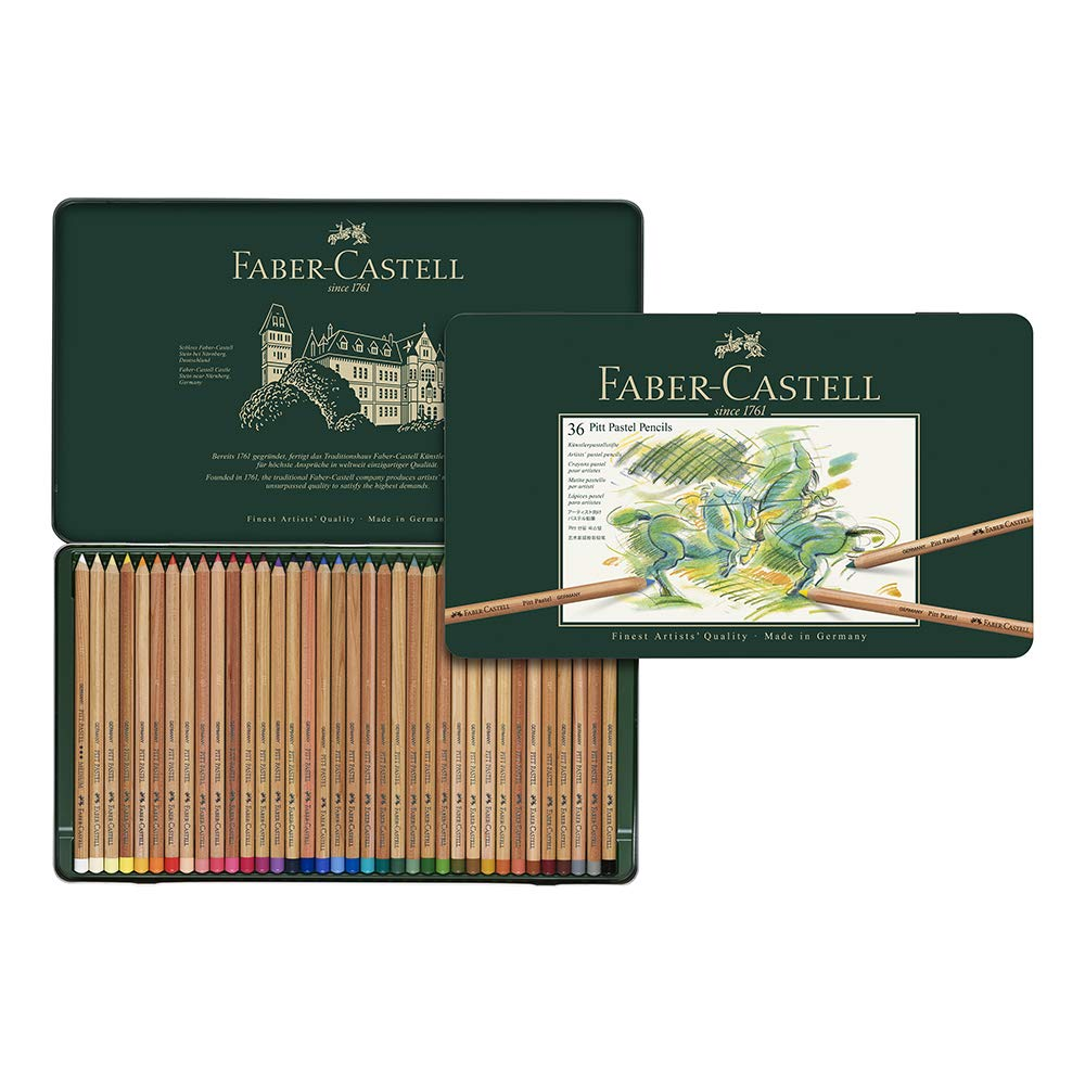 Artists Colour Sketching Pencils 36 Tin Faber Castell Pitt Pastel Pencil Set