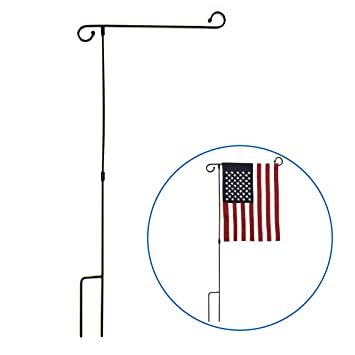 Garden Flag Pole Dollar General With Solar Light Yard Stand Holds Flags  Width For Mailbox