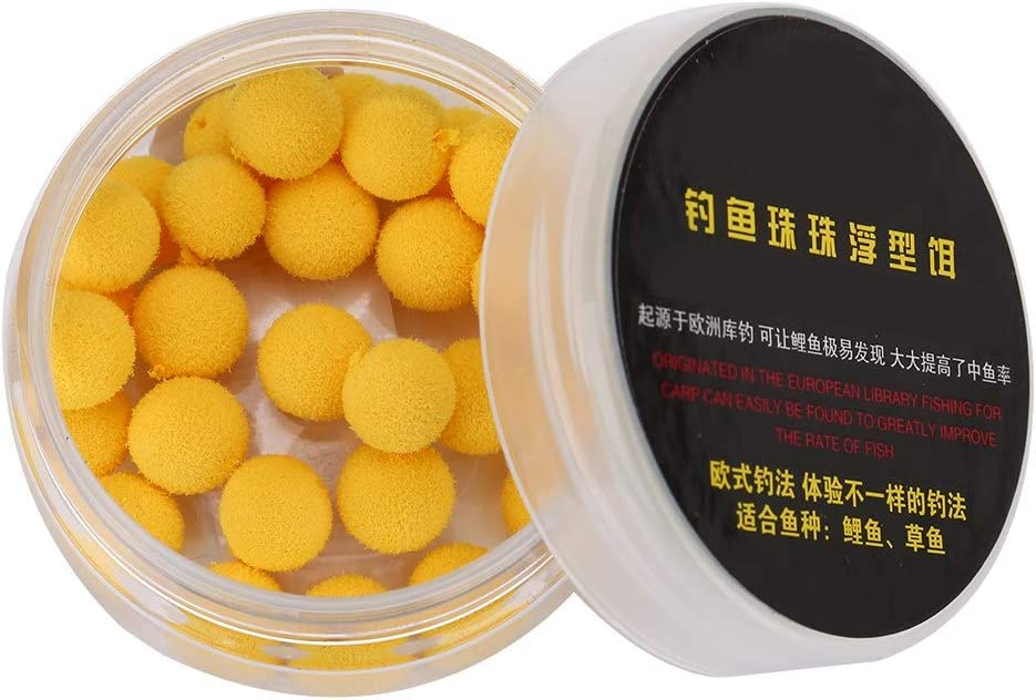 Wbestexercises 30 pcs/Box Carp Fishing Bait, Foam Pop Up Boilies, Soft Pellets Ball, Carp Floating Lure, Fish Food Nest Tool