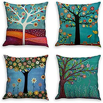 Amazon Com Laime Throw Pillow Covers Natural Pattern