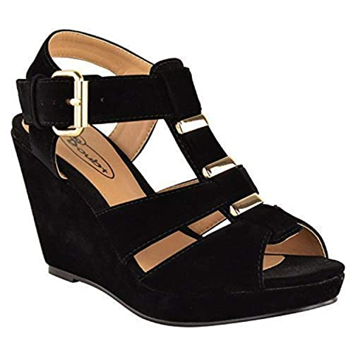 40d428262202 Fashion Thirsty NEW WOMENS LADIES LOW MID HIGH HEEL STRAPPY WEDGES PEEP TOE  SANDALS SHOES SIZE  Amazon.co.uk  Shoes   Bags