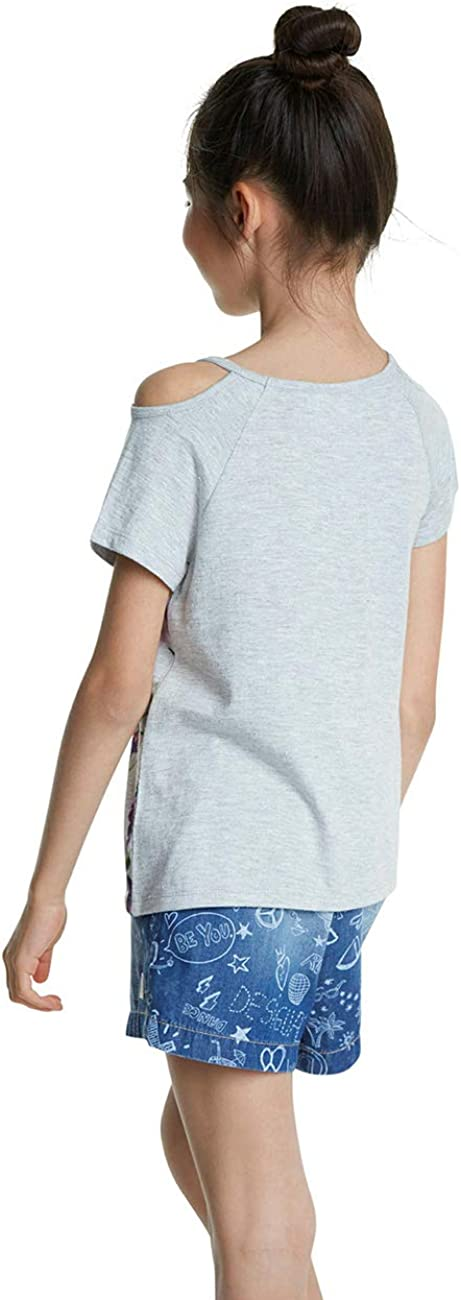 Desigual TS/_edimburgo T-Shirt Bambina