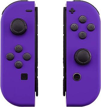 eXtremeRate Carcasa para JoyCon Nintendo Switch Funda de Agarre reemplazable Shell de Bricolaje Cubierta Tacto Suave con Botón Completo para Nintendo Switch No Incluye Carcasa de la Consola(Violeta): Amazon.es: Electrónica