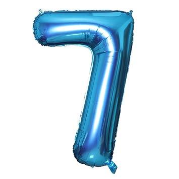 Smarcy Globos Número 7 Decoración de Cumpleaños 7 Años ...