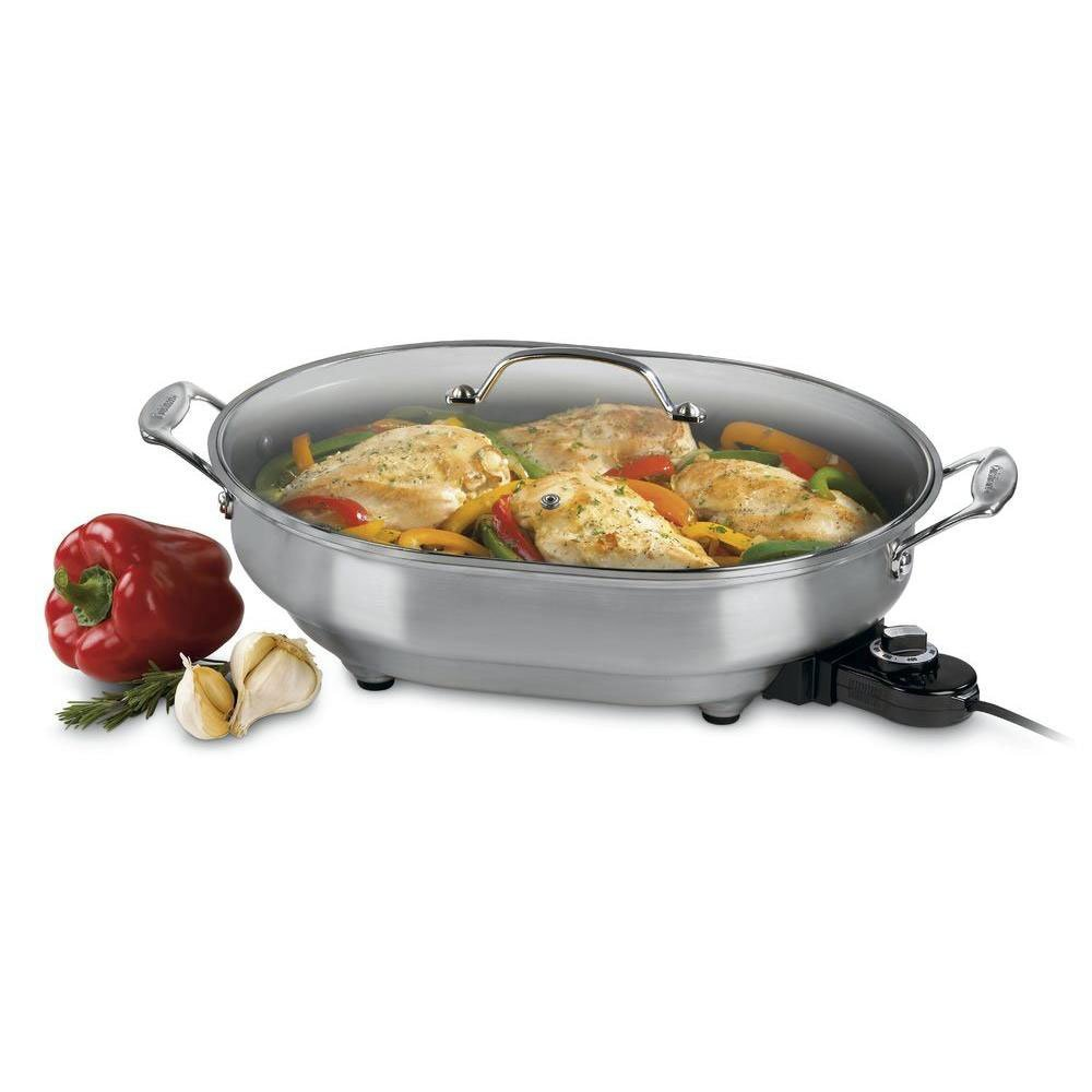Factory Reconditioned Cuisinart CSK-150FR 1500-Watt Nonstick Oval Electric Skillet