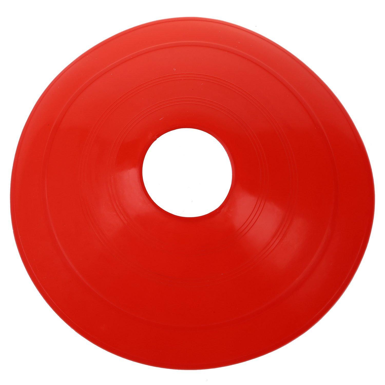 Cikuso 10 x Calcio Disco Cono piattino da Calcio Cross Training Sport Spazio Marker Punto di Riferimento Rosso