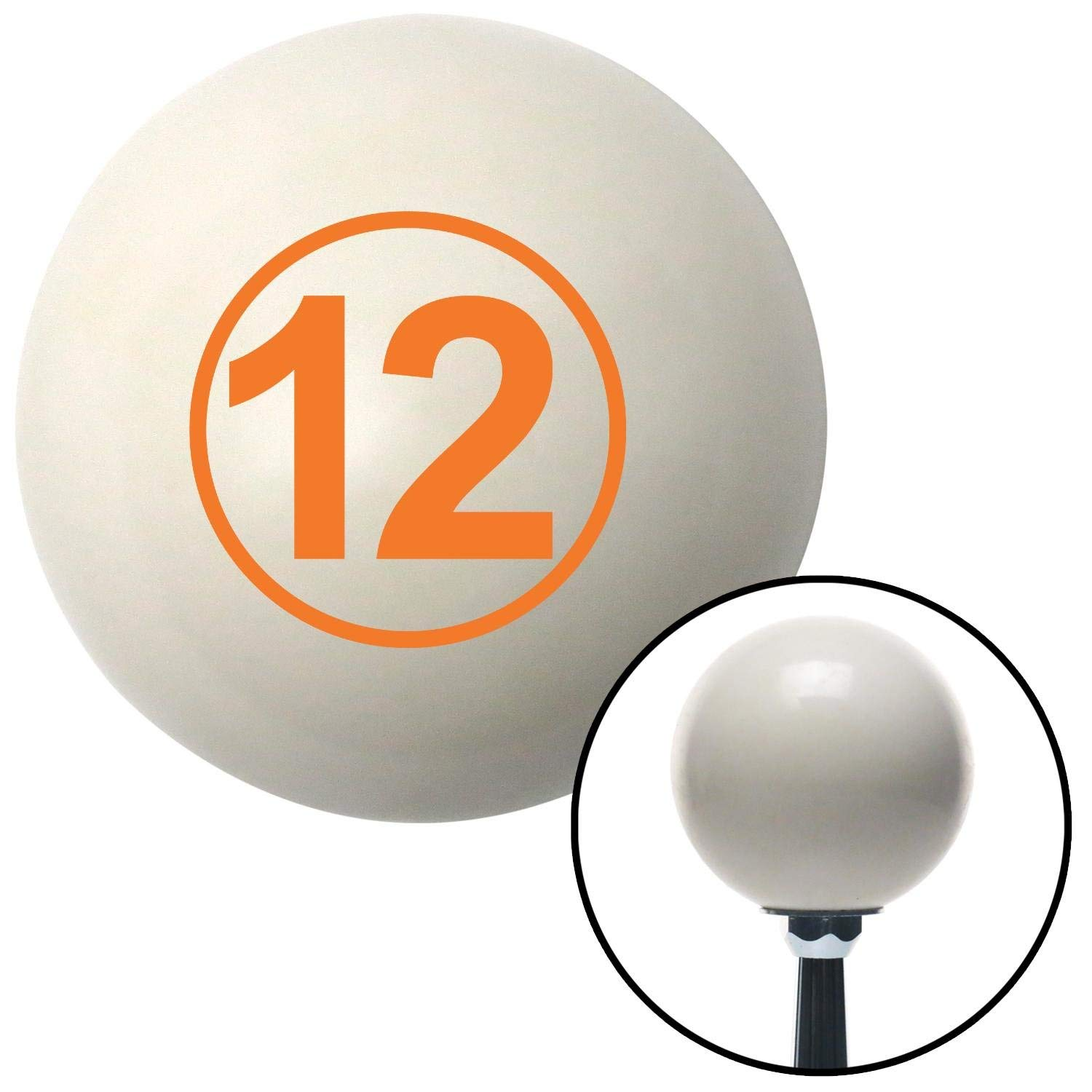 Orange Ball 12 American Shifter 30362 Ivory Shift Knob with 16mm x 1.5 Insert