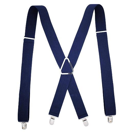 Shah Suspenders Braces Tirantes 4 Clips X Negro Arnés para Hombres ...