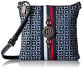 Tommy Hilfiger Crossbody Bag for Women Jaden, Navy/White