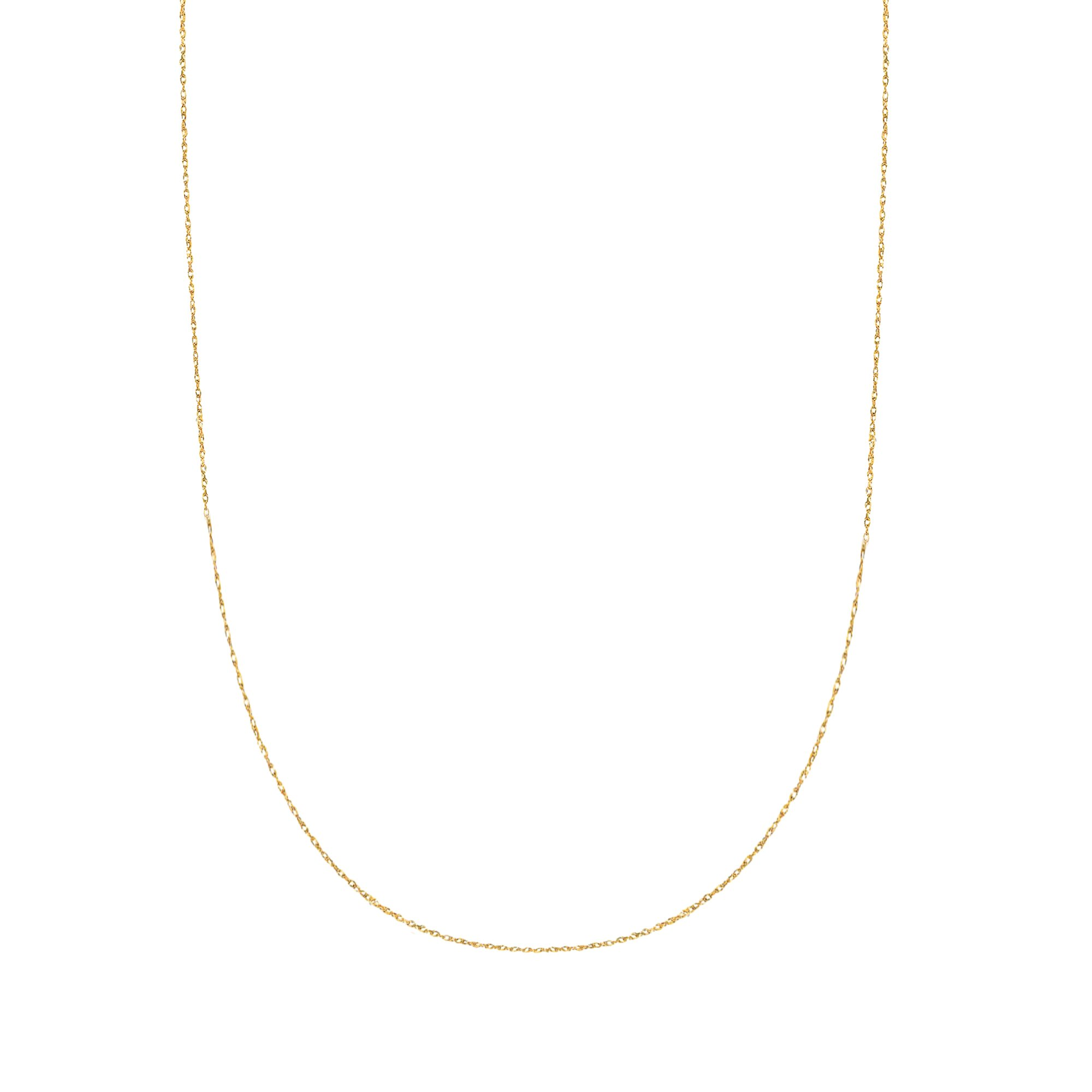 10K Solid Yellow Gold Lite Pendant Rope Chain Necklace 18 Inches