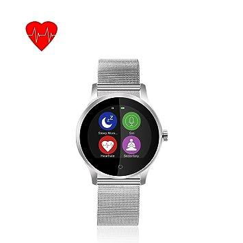 Nereo deporte inteligente muñeca reloj k88h con banda de acero inoxidable, compatible con iOS,
