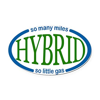 Cafepress hybrid car magnet oval car magnet euro oval magnetic bumper sticker