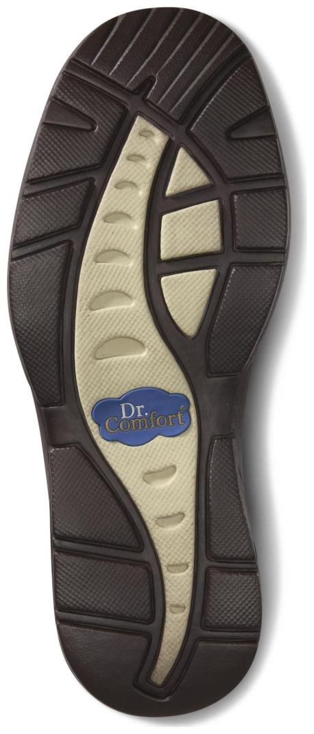 Dr. Comfort Fisherman Men's Therapeutic Diabetic Extra Depth Sandal: Chestnut 11.0 X-Wide (3E/4E) Velcro by Dr. Comfort (Image #3)