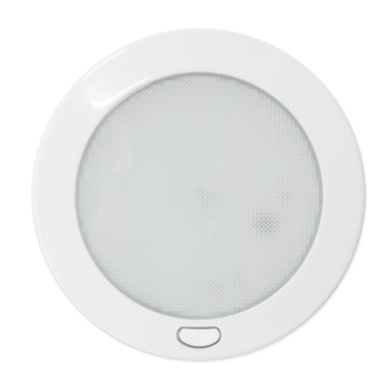 Dream Lighting PLAFONIERA a LED da 12V 12,7 cm con interruttore per Carovana/Camper/Armadietti e pensili/Luce da soffitto, Bianco caldo Jerrylight Pty Ltd