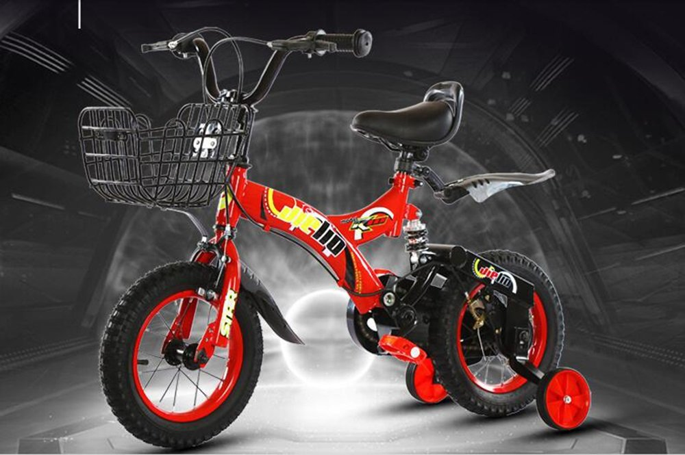 美しい 家ショックアブソーババイク、ショック子供用自転車、ベビー用バイク、子供用車 (色 : 赤, サイズ さいず : 100cm) B07CXKNS8D 100cm|赤 赤 100cm