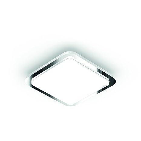 Steinel – Lámpara LED de techo RS LED D1 V3, marco de cromo, 9.5