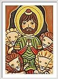 Saint Daniel print Prophet Daniel Lions St Daniel print St Daniel painting Saint Daniel painting Saint picture Catholic art Catholic saint print Catholic painting Patron saint Christening gift