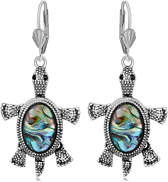 Tortugas Tortuga Pendientes Mujeres Moda Ear Stud clip Cuff (Pack ...