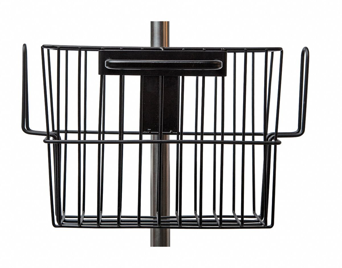 Basket, Pole Mounted, Stainless Steel, Blk