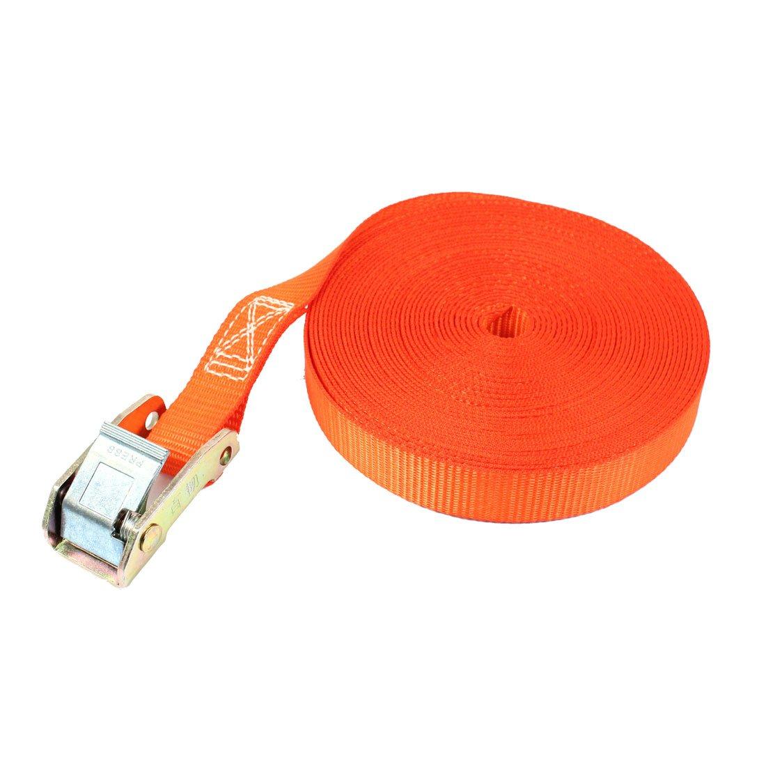 Aexit Auto Baumarkt Waren Gep/äckst/ücke Spannen Gurtschloss Spanngurt 10 m x 25 Eisenwaren mm Orange