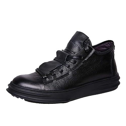 Mocasines Sin Cordones para Hombres - Mocasines De Vestir y Casuales - Cuero Genuino, Suela De Goma: Amazon.es: Zapatos y complementos
