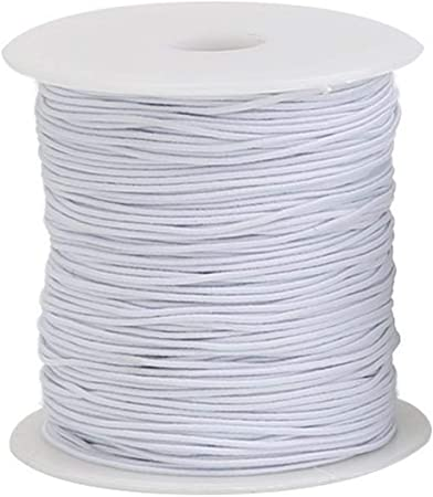 Trimming Shop 1mm White Wide Elastic Sewing Thread For Shirring