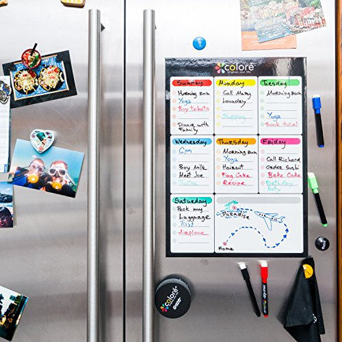 Colore Snow White Large Dry Erase Magnetic Whiteboard For