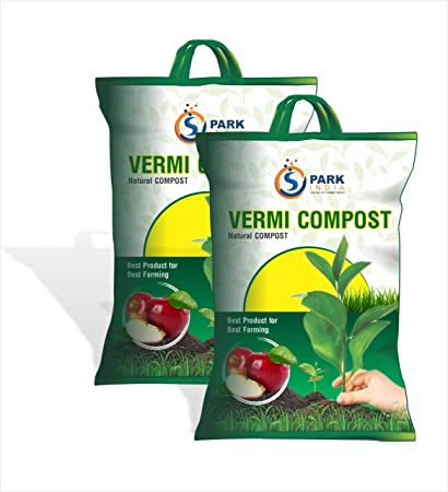 Spark India Vermi Compost for Plants for Home Garden Result Oriented Vermicompost (5 Kg)