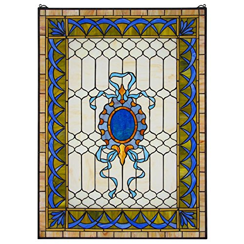 Stained Glass Panel - Cranbrook Terrace Stained Glass Window Hangings - Window Treatments -