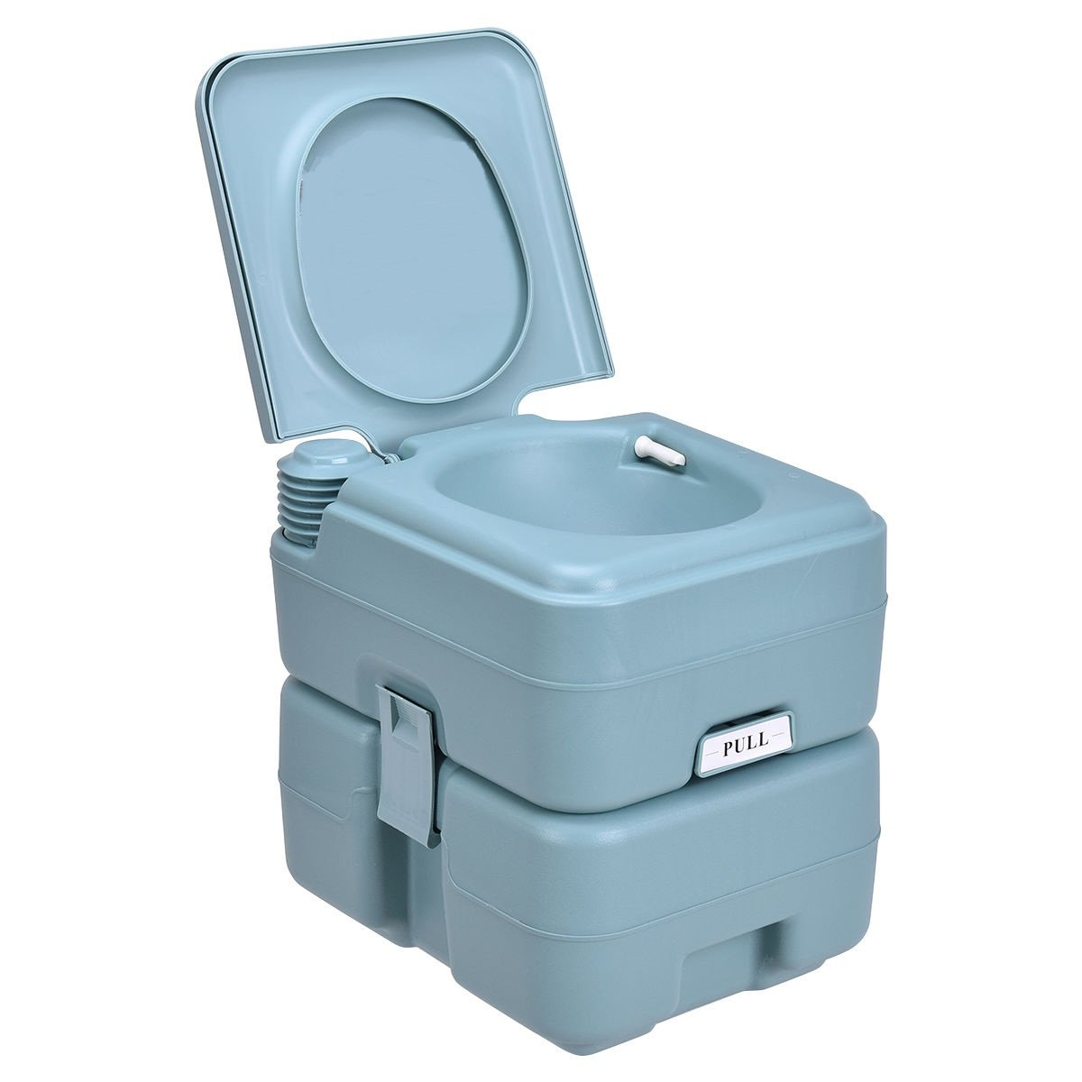 20L Easy Carry & Clean Portable Travel Flush Toilet Greenish Gray Potty by FDInspiration (Image #1)