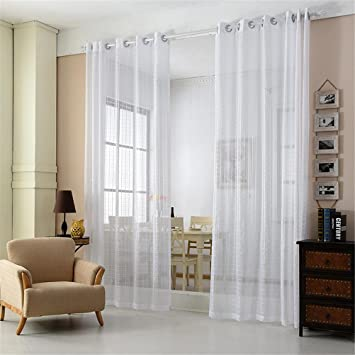 CF® Tulle Vorhang Weiß Küche Polyester Tüll Vorhänge Modern ...