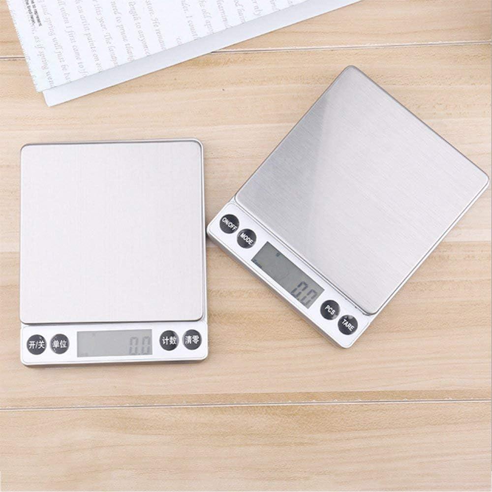 RoadRoma Escala de pesaje de Alta precisi/ón 500G//0.01G LCD Digital Electronic Kitchen Scale Silver