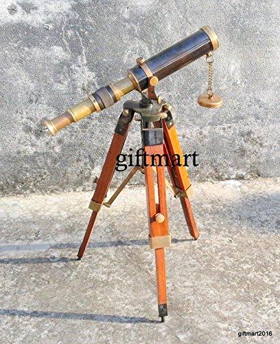 Arsh Nautical Marine Navy Nautical Brass Telescope With Tripod Stand Handmade Vintage Spyglass by Arsh Nautical