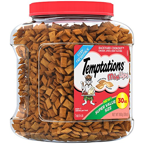 TEMPTATIONS MixUps Treats for Cats BACKYARD COOKOUT Flavor 30 Ounces, With Our Mouthwatering Menu We Have a Flavor For Every Feline