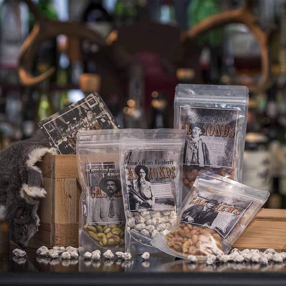 Man Crates Saloon Nuts Mini Crate - Flavorful Food Gift For Men - Includes Butter Toffee Almonds, Jalapeño Garlic Cashews and More - Ships In A Sealed Wooden Crate With A Laser-Etched Crowbar by Man Crates (Image #3)