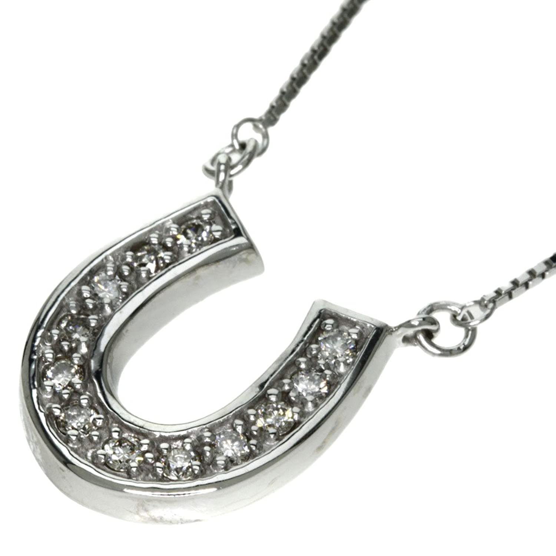 [ポーラ]5.3g ダイヤモンド ネックレス K18ホワイトゴールド レディース (中古) B078MWSSSX