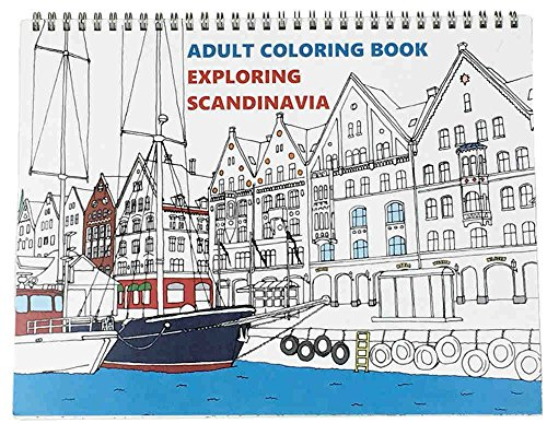 Coloring Books for Seniors: Including Books for Dementia and Alzheimers - Adult Coloring Book: Exploring Scandinavia